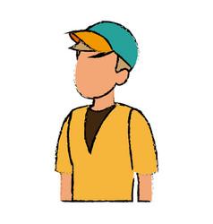 Tourist man character traveler people vector