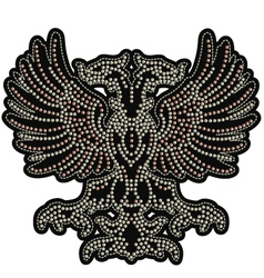 Eagle emblem with studs vector