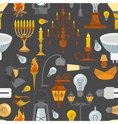 Lighting seamless pattern vector