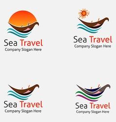 Sea Boat Travel Logo vector image