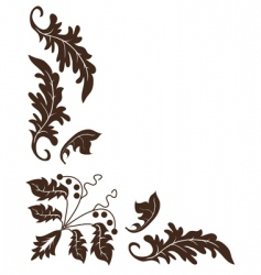 Plant ornament vector