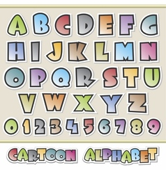Cartoon alphabet vector