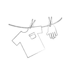 Laundry garments with gloves vector