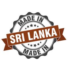 Made in sri lanka round seal vector
