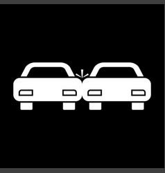 crashed cars it is icon vector image