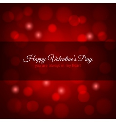 Valentines day red lights design background vector
