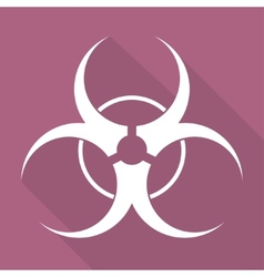 Biohazard iconbiological danger vector