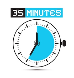 Thirty five minutes stop watch - clock vector