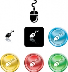 computer mouse icons vector image