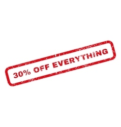 30 percent off everything rubber stamp vector