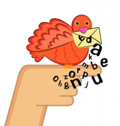 message bird vector image