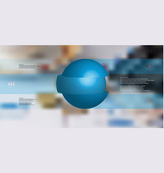 3d infographic template with ball sliced to three vector