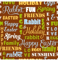 Seamless easter pattern with typography vector