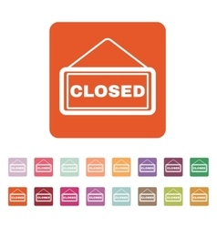 The closed icon locked symbol flat vector