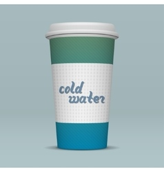 Paper cup of cold water vector