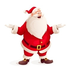 Santa claus throw up hands vector