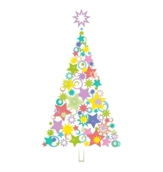 Cartoon christmas holiday tree vector
