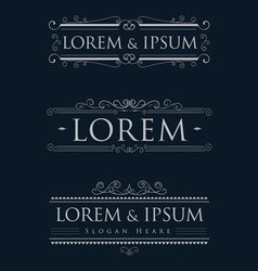Luxury logos template calligraphy flourishes vector