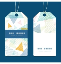 Abstract fabric triangles vertical stripe frame vector