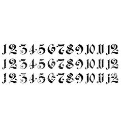 Arabian numerals vector image vector image