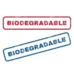 Biodegradable rubber stamps vector