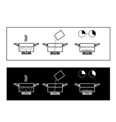 Boiling instruction vector image