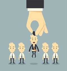 Businessman hand choosing vector