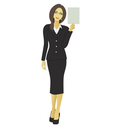 businesswoman vector image vector image