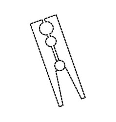 classic wooden clothes peg laundry icon vector image