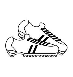 Cleats shoes soccer or football related icon image vector