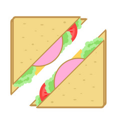 club sandwich isolated icon vector image