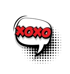 Comic text xoxo sound effects pop art vector