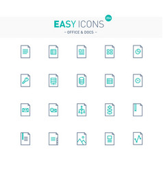 Easy icons 19e docs vector
