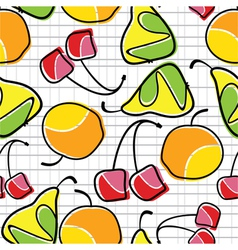 fruit pattern vector image vector image