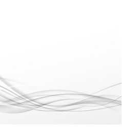 Grey abstract smooth line transparent swoosh vector image vector image