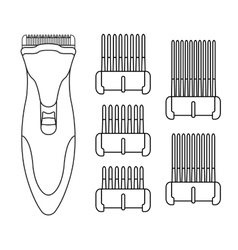 Hair clipper machine color vector