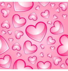 Hearts seamless background vector