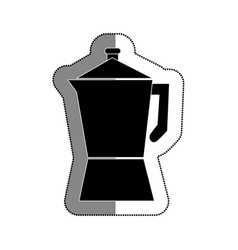 Kettle kitchen utensil icon vector