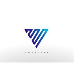 letter v monogram logo design vector image