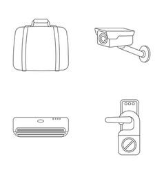 Luggage surveillance camera air conditioning do vector