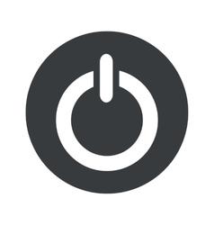 Monochrome round power icon vector