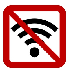 No Wi-Fi sign vector image