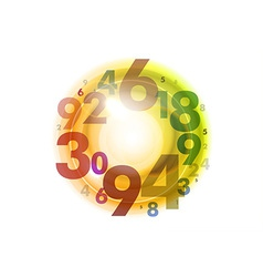 Numbers circle color vector