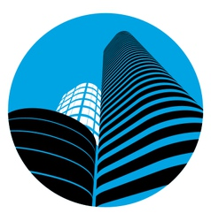 Office buildings sign vector