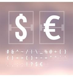 Outline scoreboard symbols flat alphabet vector