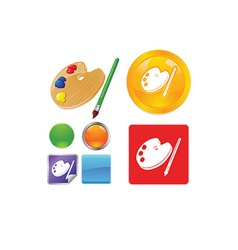 Paint icon set vector image vector image