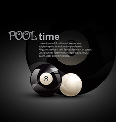 Pool ball vector