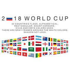 Rectangular flags of 2018 world cup countries vector
