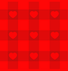 Red checkered pattern tablecloth background with vector