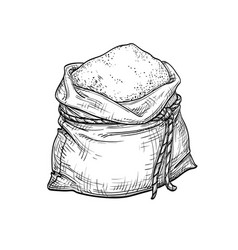 sack of flour vector image
